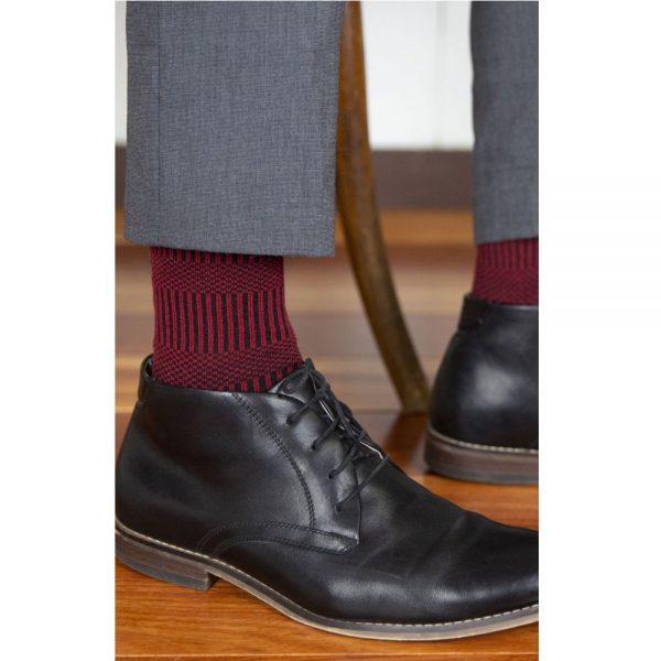 65% Fine Merino Wool Patterned Men's Health Sock® (Style 17C)