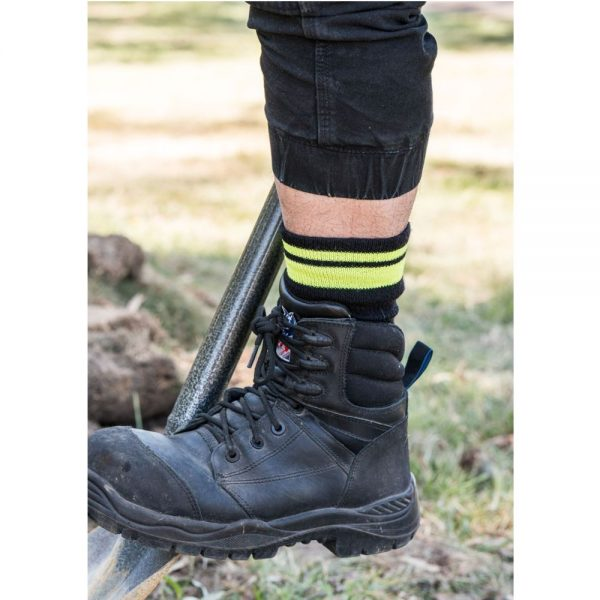 Feet First Sock With Safety Stripe (Style 32C)