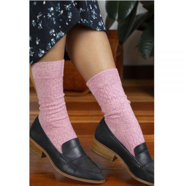 95% Fine Merino Wool Quilted Ladies' Health Sock® (Style 44C)