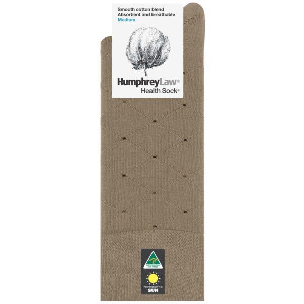 85% Mercerised Cotton Men's Health Sock® -Net Diamond Pattern (Style 51C)