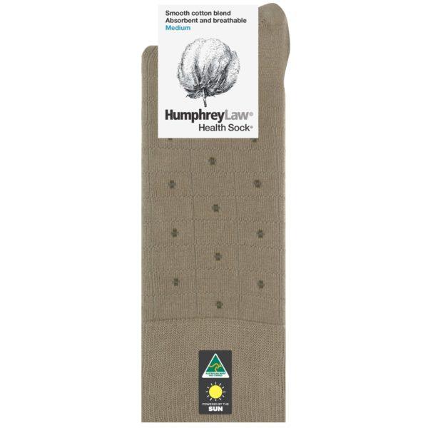 85% Mercerised Cotton Men's Health Sock® – Check Spot Pattern (Style 51C)