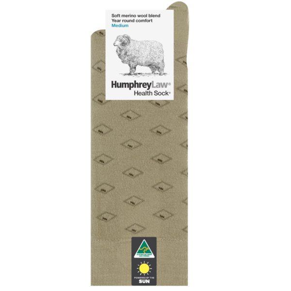 60% Fine Merino Wool Men's Health Sock® – Diamond Eye Pattern (Style 85C)