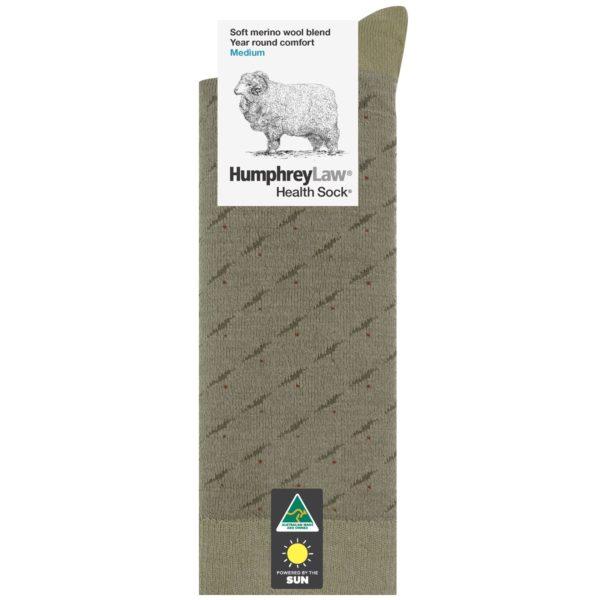 60% Fine Merino Wool Men's Health Sock® – Rain Pattern (Style 85C)