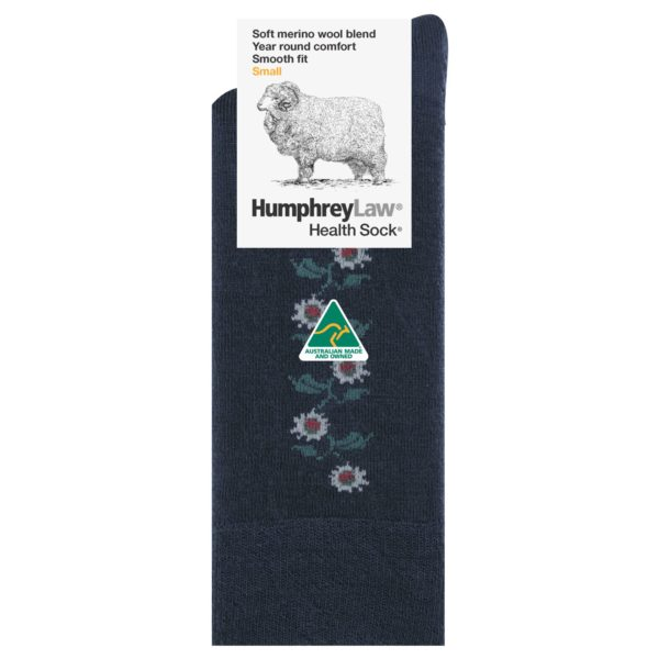 60% Fine Merino Wool Ladies' Health Sock® – Sunflower Pattern (Style 85C)