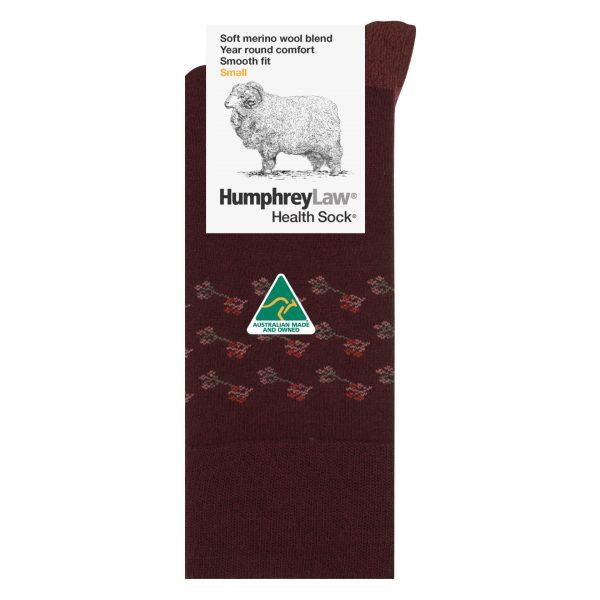 60% Fine Merino Wool Ladies' Health Sock® – Erica Pattern (Style 85C)